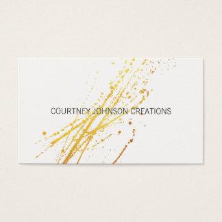 Cartes De Visite Éclaboussure expressive d'or