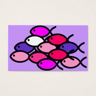 Cartes De Visite Cole Des Symboles Chrtiens Poissons