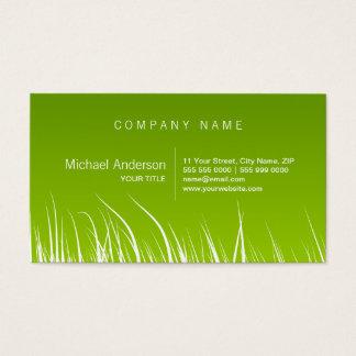 Cartes De Visite Écologie d'herbe verte