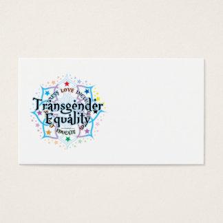 Cartes De Visite Égalité Lotus de transsexuel