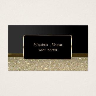 Cartes De Visite Élégant de luxe élégant, or de Faux, scintillant