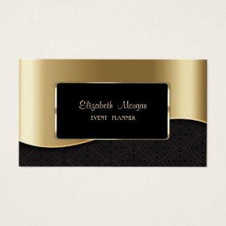 Cartes De Visite Élégant de luxe élégant, professionnel, or de Faux