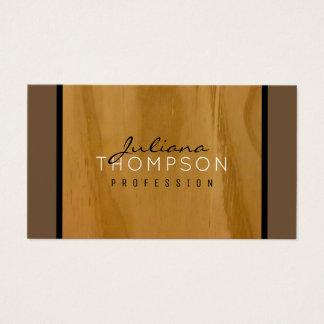 Cartes De Visite élégant en bois rustique