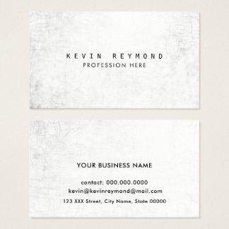 Cartes De Visite élégant professionnel blanc âgé de texture