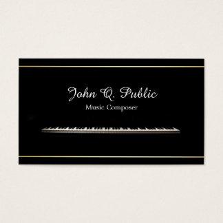 Cartes De Visite Élégant professionnel de compositeur de musique de