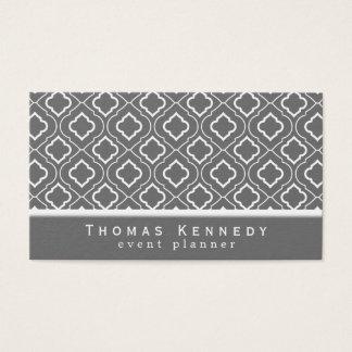 Cartes de visite élégants à la mode de motif gris