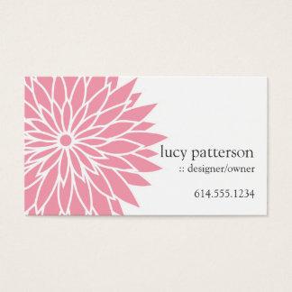 Cartes de visite élégants chics roses de flower