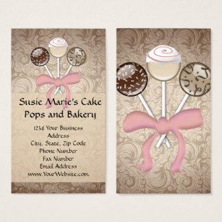 Cartes de visite élégants de bruit de gâteau de