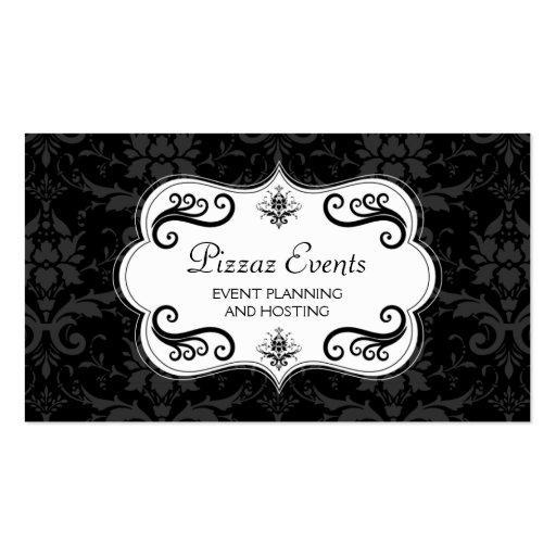 Cartes de visite élégants de damassé et de remous cartes de visite professionnelles