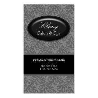 Cartes de visite élégants de gris de salon de carte de visite standard