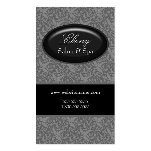 Cartes de visite élégants de gris de salon de dama cartes de visite professionnelles