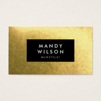 Cartes de visite élégants de noir d'or d'éclat