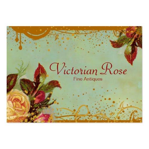 Cartes de visite élégants de rose victorien carte de visite