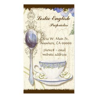 Cartes de visite élégants de thé de magasin fait s carte de visite