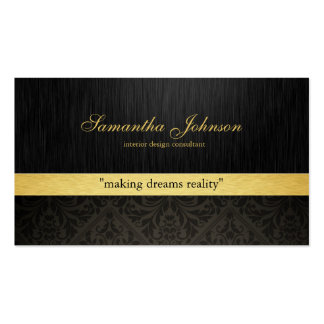 Cartes de visite élégants professionnels de damass modèle de carte de visite