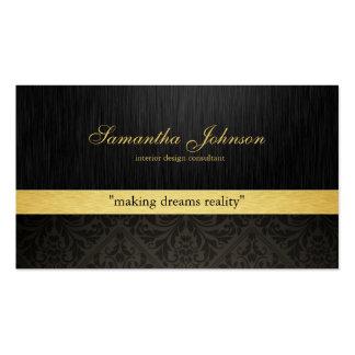 Cartes de visite élégants professionnels de damass carte de visite standard