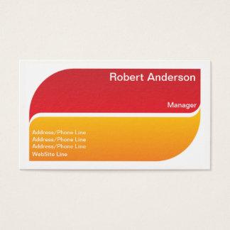 Cartes De Visite Éléments fendus de jaune rouge élégant simple