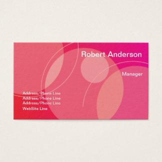 Cartes De Visite Éléments ronds roses rouges élégants simples
