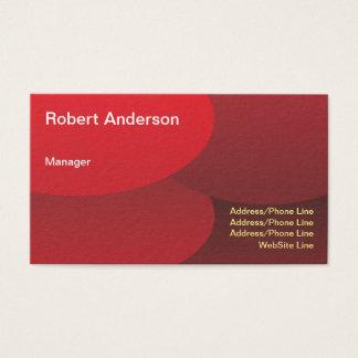 Cartes De Visite Éléments ronds rouges élégants simples