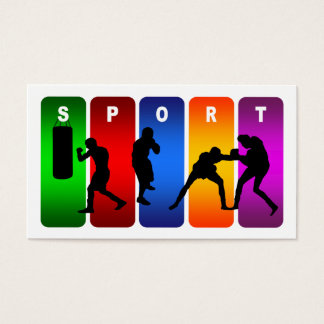 Cartes De Visite Emblème multicolore de boxe