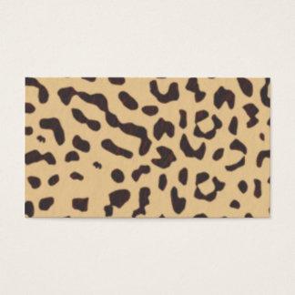 Cartes De Visite empreinte de léopard
