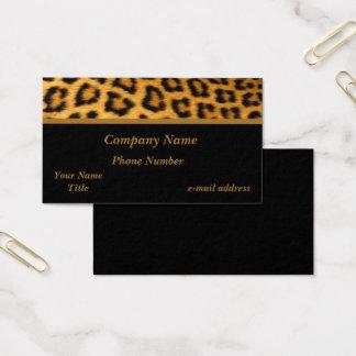 Cartes De Visite Empreinte de léopard à la mode