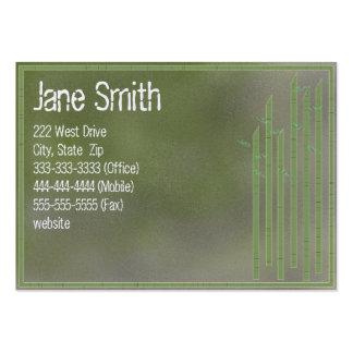 Cartes de visite en bambou modèles de cartes de visite