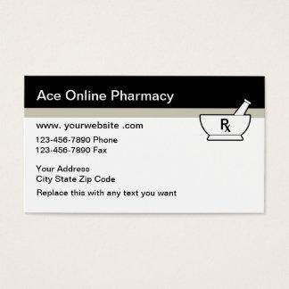 Cartes de visite en ligne de pharmacie