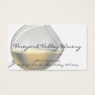 Cartes de visite en verre de vin