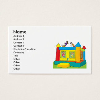 Cartes De Visite Enfants de château de rebond