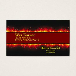 Cartes De Visite Enfer flamboyant du feu