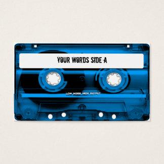 Cartes De Visite Enregistreur à cassettes bleu personnalisé