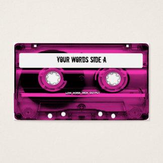 Cartes De Visite Enregistreur à cassettes rose personnalisé