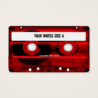 Cartes De Visite Enregistreur à cassettes rouge personnalisé