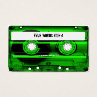 Cartes De Visite Enregistreur à cassettes vert personnalisé