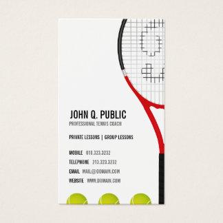 Cartes De Visite Entraîneur de tennis