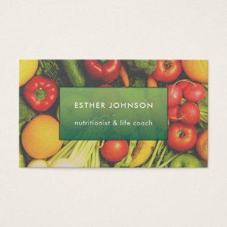Cartes De Visite Entraîneur élégant moderne de la vie de nutrition