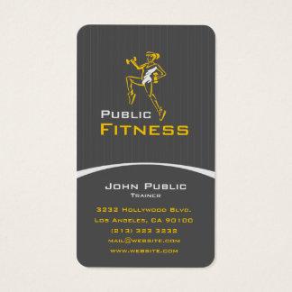Cartes De Visite Entraîneur personnel de forme physique aérobie