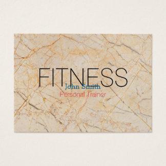 Cartes De Visite Entraîneur personnel de marbre élégant moderne de