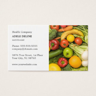 Cartes De Visite Entraîneur végétal élégant classique de