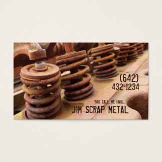 Cartes De Visite Entreprises antiques de mitraille de moteur de