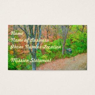 Cartes De Visite Entrez dans la forêt