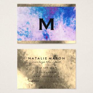 Cartes De Visite Équilibre d'aquarelle de monogramme (carte de