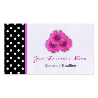 Cartes de visite équilibrés de fleur de point de carte de visite standard