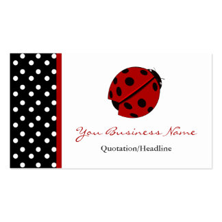 Cartes de visite équilibrés de Madame Bug de point Modèle De Carte De Visite