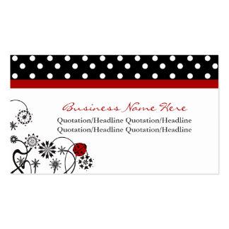 Cartes de visite équilibrés de Madame Bug de point Carte De Visite Standard