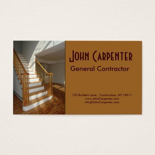 Cartes de visite escalier dans la maison de nouvelle for Carte visite construction