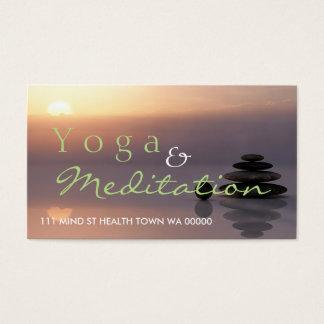 Cartes De Visite Esprit de santé d'instructeur d'équilibre de