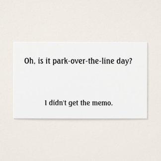 Cartes De Visite Est-ce parc au-dessus de la ligne jour ?