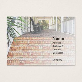 Cartes De Visite étapes de pavillion de brique rouge